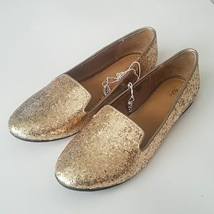 Mission  New Golden Flat Shoes